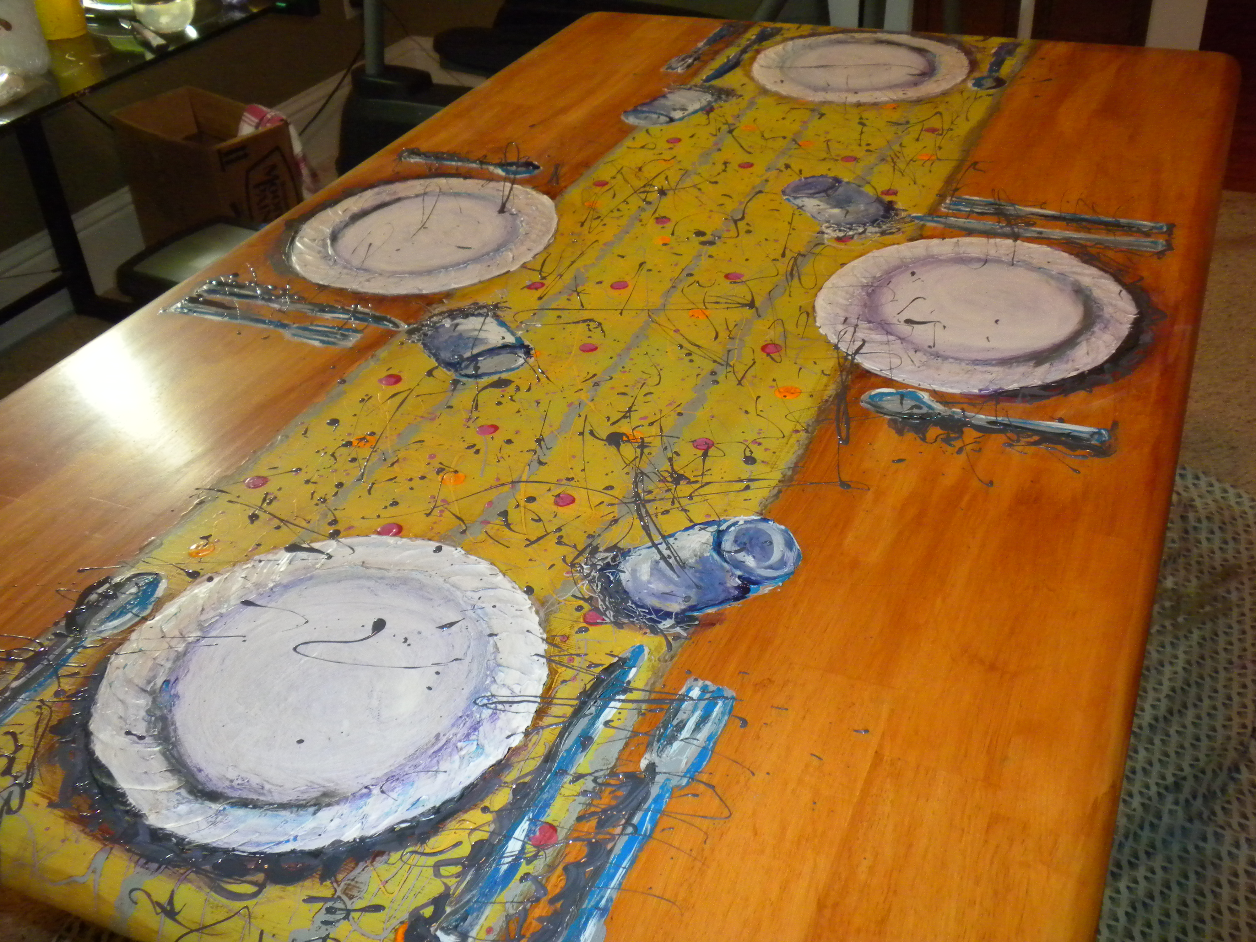 Final table top painting holly herick creative adventures for Creative table tops