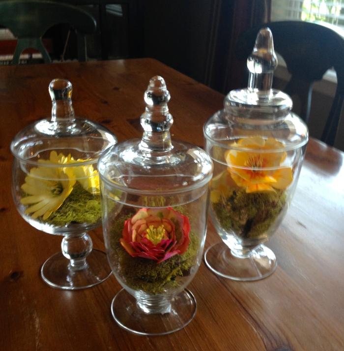 Watercolor paper flowers: Terrarium Trio